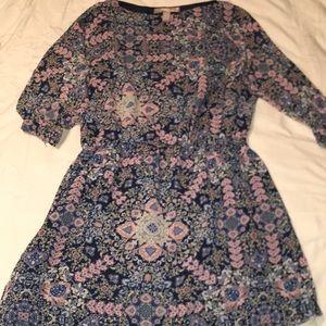 Dress knee length flower print